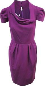 Fioletowa sukienka Oscar De La Renta Pre-owned z jedwabiu