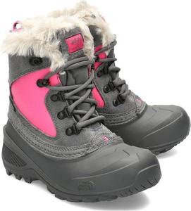 Buty dziecięce zimowe The North Face z zamszu
