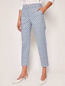 Spodnie MaxMara w stylu klasycznym w geometryczne wzory