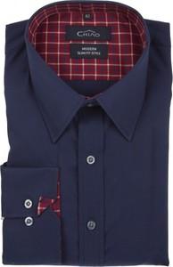 Granatowa koszula Chiao z bawełny