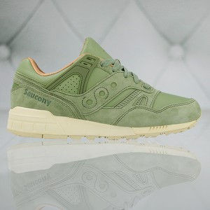 Zielone buty sportowe Saucony w sportowym stylu sznurowane