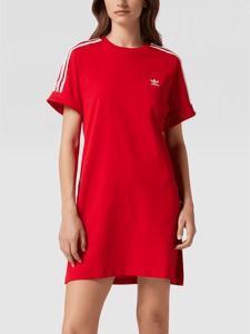 Sukienka Adidas Originals mini z krótkim rękawem z okrągłym dekoltem