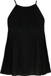 Czarna bluzka Silvian Heach z okrągłym dekoltem w stylu casual