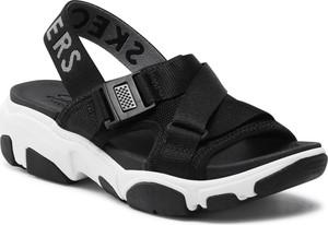 Czarne sandały Skechers z klamrami w stylu casual