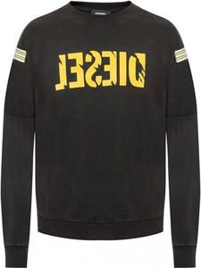 Czarna bluza Diesel z bawełny w młodzieżowym stylu