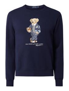 Granatowa bluza POLO RALPH LAUREN z nadrukiem z bawełny