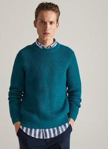 Turkusowy sweter Reserved z dzianiny w stylu casual