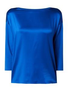 Niebieska bluzka Betty Barclay z satyny z długim rękawem