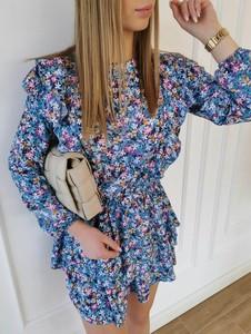 Niebieska sukienka Perfe.pl mini