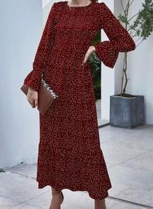 Czerwona sukienka Cikelly maxi
