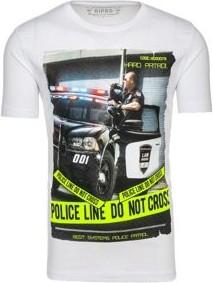 T-shirt Denley z krótkim rękawem z bawełny w street stylu