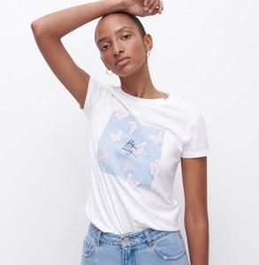 T-shirt Reserved z bawełny z krótkim rękawem