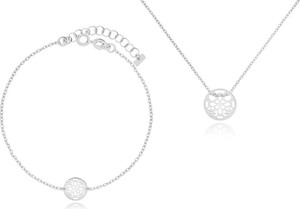 Irbis.style komplet srebrnej biżuterii - bransoletka i naszyjnik