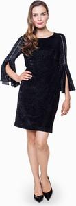 Czarna sukienka POTIS & VERSO z okrągłym dekoltem mini