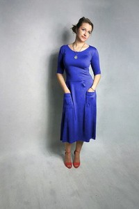 33a79a8c11 Sukienka Meleksima w stylu casual z okrągłym dekoltem z długim rękawem