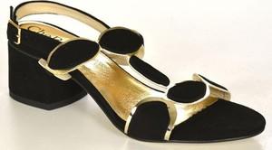 Czarne sandały chebello
