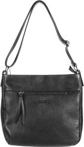 Czarna torebka Domeno ze skóry w stylu glamour na ramię