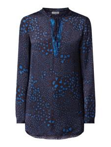 Granatowa bluzka Malvin z długim rękawem
