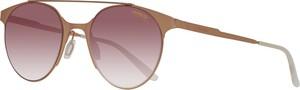 Złote okulary damskie Carrera