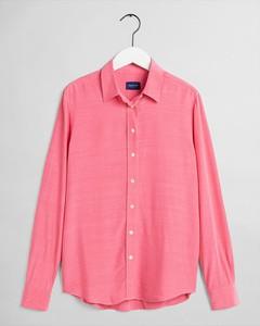 Różowa bluzka Gant z bawełny w stylu casual