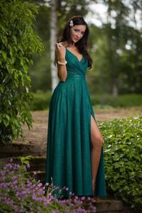 Sukienka Elizabeth kopertowa bez rękawów z tkaniny