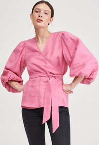 Różowa bluzka Reserved w stylu casual