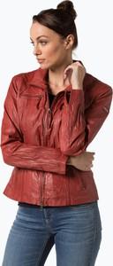 Czerwona kurtka Cabrini krótka w rockowym stylu