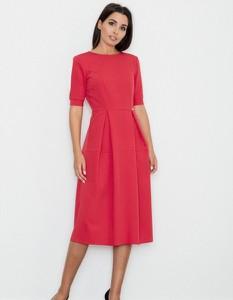 Sukienka Figl midi z krótkim rękawem