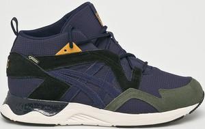 Granatowe buty sportowe ASICS z zamszu
