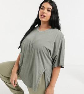 Zielony t-shirt Asos z krótkim rękawem