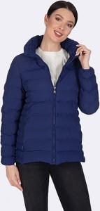 Granatowa kurtka Giorgio Di Mare z bawełny krótka