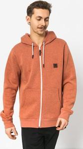 Pomarańczowa bluza Element ze skóry w młodzieżowym stylu