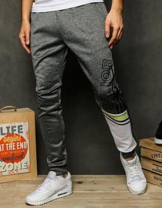 Spodnie sportowe Dstreet z dresówki z nadrukiem
