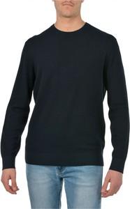 Czarny sweter Emporio Armani w stylu casual z okrągłym dekoltem z wełny
