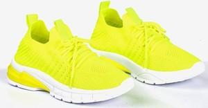 Zielone buty sportowe Royalfashion.pl sznurowane