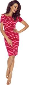 Sukienka producent niezdefiniowany ołówkowa mini z okrągłym dekoltem