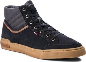 fc4a44d16e53c Sneakersy TOMMY HILFIGER - Core Material Mix Mi FM0FM01707 Midnight 403