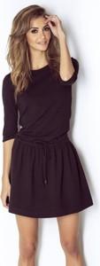 Czarna sukienka Ivon z bawełny