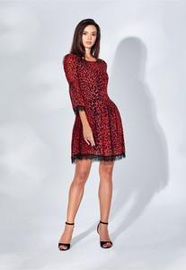 Czerwona sukienka WIBS oversize mini