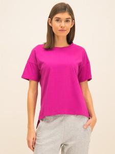 Różowy t-shirt Armani Exchange z okrągłym dekoltem w stylu casual z krótkim rękawem