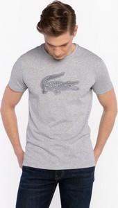 T-shirt Lacoste w młodzieżowym stylu z bawełny z krótkim rękawem