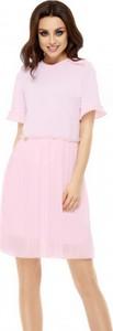 Różowa sukienka Lemoniade z krótkim rękawem w stylu casual
