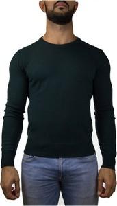 Zielony sweter Peuterey z dżerseju z okrągłym dekoltem w stylu casual