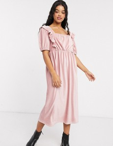 Sukienka Asos Design ze sztruksu z krótkim rękawem