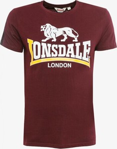 Czerwony t-shirt Lonsdale