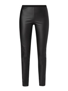 Czarne legginsy Set ze skóry ekologicznej