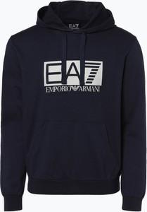 Niebieska bluza EA7 Emporio Armani w młodzieżowym stylu