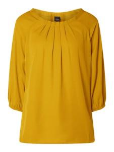 Żółta bluzka S.Oliver Black Label z okrągłym dekoltem z długim rękawem z szyfonu
