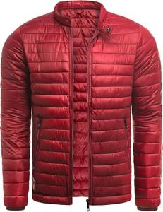 Czerwona kurtka Risardi w stylu casual krótka