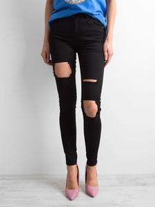 Czarne jeansy Sheandher.pl z jeansu w stylu casual